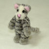 World of Miniature Bears Gray Tiger Striped Angel Cat