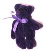 Tiny Purple Jointed Teddy Bear - World of Miniature Bear