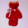 Tiny Red Jointed Teddy Bear - World of Miniature Bears
