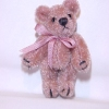 Tiny Dusty Rose Bear - World of Miniature Bears