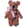 Dusty Rose Jointed Mini Teddy Bear World of Miniature Bears