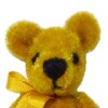 Gold Jointed Teddy Bear - World of Miniature Bears