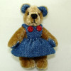 "Dentine 1 3/4"" Jointed World of Miniature Bears Denim Bear"