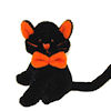 World of Miniature Bears Big Halloween Black and Orange Cat