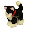 World of Miniature Bears Furry Black and White Sock Cat