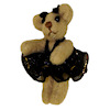 World of Miniature Bears Ballerina Bear in Black Tutu