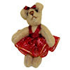 World of Miniature Bears Ballerina Bear in Red Tutu