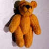 Tiny Jointed Amber Gold Suede Micro Bear World of Miniature Bear