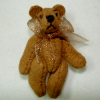 Tiny Aztec Suede Micro Bear World of Miniature Bears