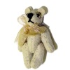 "1"" Jointed Bone Color Suede Micro Bear World of Miniature Bears"