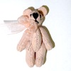 "1"" Jointed Pink Opal Suede Micro Bear World of Miniature Bears"