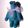 Tiny Atlantis Blue Suede Micro Bear World of Miniature Bears