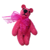 Fuchsia Pink Suede Micro Bear World of Miniature Bear