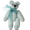 Jointed Powder Blue Suede Micro Bear World of Miniature Bears