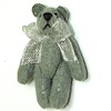 Silver Pearl Suede Micro Bear World of Miniature Bears