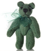 "1"" Topiary Green Suede Micro Bear World of Miniature Bears"