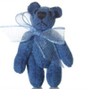 Jointed Lapis Blue Suede Micro Bear World of Miniature Bears