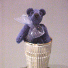 Lapis Suede Thimble Bear World of Miniature Bears