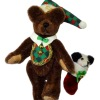 World of Miniatures Bears Wally with Panda Christmas Stocking