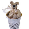 World of Miniature Bears Cafe Color Suede Thimble Bear
