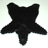 Small Black Bear Rug World of Miniature Bears