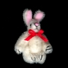 Fluffy White Easter Bunny Rabbit - World of Miniature Bears