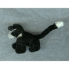 Fluffy Black and White Cat - World of Miniature Bears