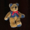 "Denny - 1 3/4"" Jointed World of Miniature Bears Denim Bear"