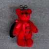 Tiny Jointed World of Miniature Bears Red Ladybug Bear