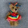 Tiny Jointed World of Miniature Bears Rainbow Bear