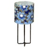 Warren Richardson Working Modern Table Lamp Blue Floral Shade