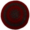Gloria Richardson Handcrafted Red and Green Braided Wool Rug
