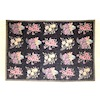 Small Fringed Flower Pattern Area Rug